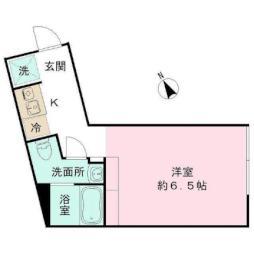 都営三田線 春日駅 徒歩8分の賃貸マンション 1階ワンルームの間取り