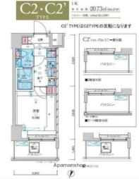 JR常磐線 綾瀬駅 徒歩10分の賃貸マンション 10階1Kの間取り