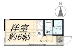 JR鶴見線 浅野駅 徒歩9分の賃貸アパート 1階ワンルームの間取り