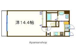 JR中央本線 甲府駅 徒歩4分の賃貸マンション 2階1Kの間取り
