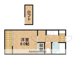 JR東海道本線 袋井駅 徒歩34分の賃貸アパート 1階1Kの間取り
