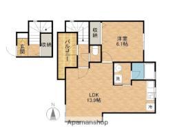 JR東海道本線 浜松駅 バス10分 神田東下車 徒歩3分の賃貸アパート 2階1LDKの間取り
