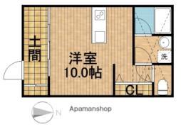 JR東海道本線 浜松駅 徒歩15分の賃貸アパート 2階ワンルームの間取り