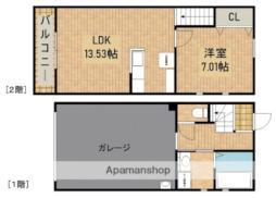 JR東海道本線 浜松駅 バス10分 渡瀬下車 徒歩3分の賃貸アパート 1階1LDKの間取り