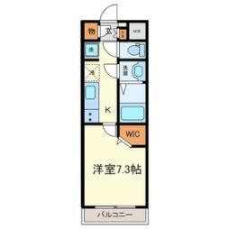名古屋市営桜通線 中村区役所駅 徒歩4分の賃貸マンション 3階1Kの間取り