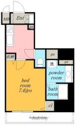 名古屋市営東山線 一社駅 徒歩1分の賃貸マンション 7階1Kの間取り