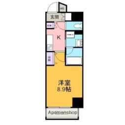 RESIDENCIA TOYOTA SAKURAMACHI 3階1Kの間取り