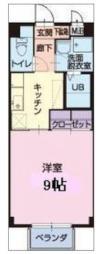 名鉄犬山線 江南駅 徒歩30分の賃貸アパート 1階1Kの間取り