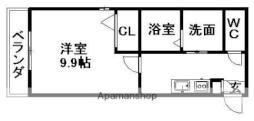 名鉄犬山線 西春駅 徒歩5分の賃貸アパート 2階1Kの間取り