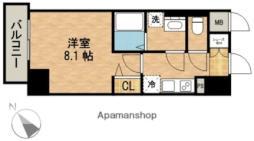 名古屋市営名城線 東別院駅 徒歩7分の賃貸マンション 4階1Kの間取り