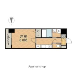 JR中央本線 金山駅 徒歩7分の賃貸マンション 9階1Kの間取り