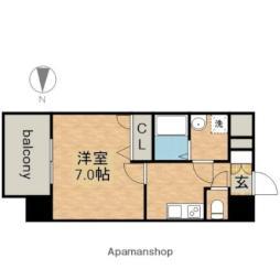 名古屋市営鶴舞線 大須観音駅 徒歩7分の賃貸マンション 6階1Kの間取り