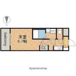 名古屋市営鶴舞線 上前津駅 徒歩3分の賃貸マンション 14階1Kの間取り