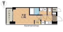 JR東海道本線 熱田駅 徒歩3分の賃貸マンション 11階1Kの間取り