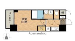 JR東海道本線 熱田駅 徒歩3分の賃貸マンション 10階1Kの間取り