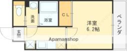近鉄南大阪線 河内天美駅 徒歩5分の賃貸マンション 1階1Kの間取り
