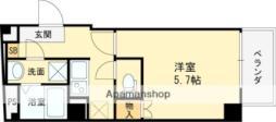 近鉄大阪線 近鉄八尾駅 徒歩3分の賃貸マンション 4階1Kの間取り