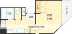 京阪本線 守口市駅 徒歩4分の賃貸マンション 5階1Kの間取り