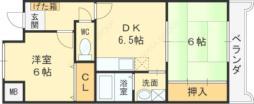 GEパークサイド 3階3DKの間取り