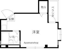 京阪本線 寝屋川市駅 徒歩8分の賃貸マンション 3階ワンルームの間取り