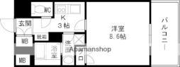 CASSIA高井田NorthCourt 3階1Kの間取り
