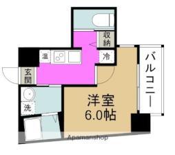 Blue福島 6階1Kの間取り