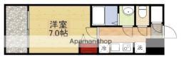 リッツ新大阪 7階1Kの間取り