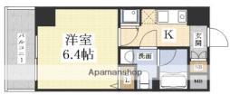 ハピネス江坂 10階1Kの間取り