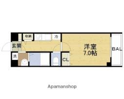 Osaka Metro長堀鶴見緑地線 今福鶴見駅 徒歩4分の賃貸マンション 6階1Kの間取り
