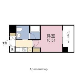 京阪電鉄中之島線 中之島駅 徒歩6分の賃貸マンション 9階1Kの間取り