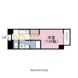 JR東西線 新福島駅 徒歩4分の賃貸マンション 8階1Kの間取り