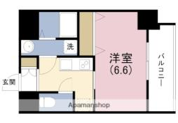 JR東西線 海老江駅 徒歩9分の賃貸マンション 2階1Kの間取り