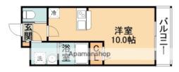 レクシード小野原西 3階1Kの間取り