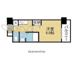 レジュールアッシュOSAKA新深江 4階1Kの間取り