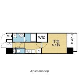 Osaka Metro千日前線 今里駅 徒歩7分の賃貸マンション 10階1Kの間取り