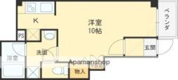 阪急今津線 仁川駅 徒歩6分の賃貸マンション 1階ワンルームの間取り