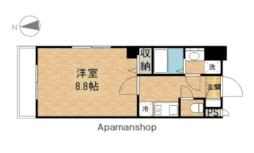 JR山陽本線 岡山駅 徒歩12分の賃貸マンション 9階1Kの間取り