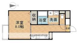 JR宇野線 大元駅 徒歩9分の賃貸マンション 5階1Kの間取り