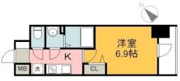 広島電鉄1系統 市役所前駅 徒歩7分の賃貸マンション 11階1Kの間取り