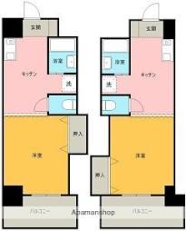 JR予讃線 宇多津駅 徒歩2分の賃貸マンション 3階1DKの間取り