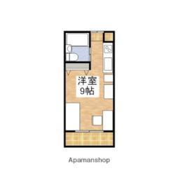 JR予讃線 伊予北条駅 徒歩9分の賃貸アパート 2階ワンルームの間取り