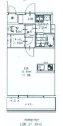JR日南線 宮崎駅 徒歩10分の賃貸マンション 6階ワンルームの間取り