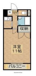JR日豊本線 清武駅 徒歩3分の賃貸マンション 4階1Kの間取り