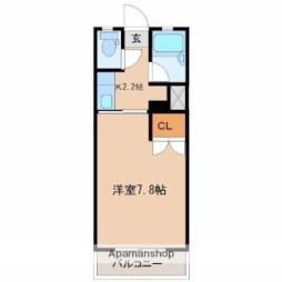 JR日豊本線 清武駅 徒歩17分の賃貸マンション 1階1Kの間取り