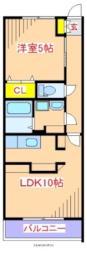 JR肥薩線 日当山駅 徒歩17分の賃貸マンション 1階1LDKの間取り