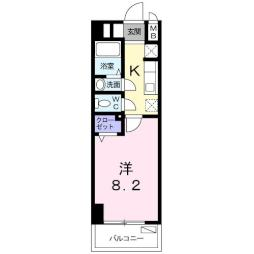 M&K.ホープマンション 7階1Kの間取り