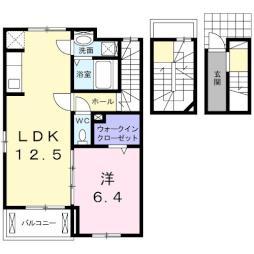 サンセリテ 3階1LDKの間取り