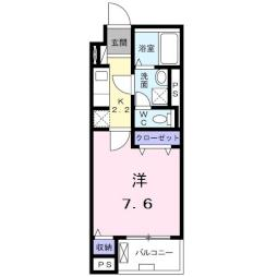 ベルハイツ早稲田 4階1Kの間取り